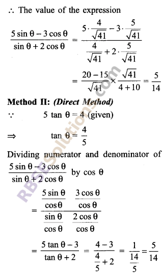 RBSE Solutions for Class 9 Maths Chapter 14 Trigonometric Ratios of Acute Angles Ex 14.1 - 12