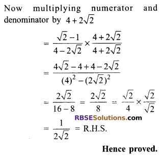 RBSE Solutions for Class 9 Maths Chapter 14 Trigonometric Ratios of Acute Angles Ex 14.2 - 10
