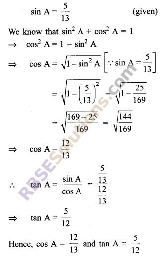 RBSE Solutions for Class 9 Maths Chapter 14 Trigonometric Ratios of Acute Angles Ex 14.2 - 7