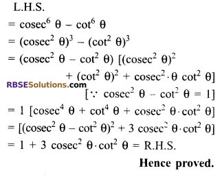 RBSE Solutions for Class 9 Maths Chapter 14 Trigonometric Ratios of Acute Angles Ex 14.3 - 4