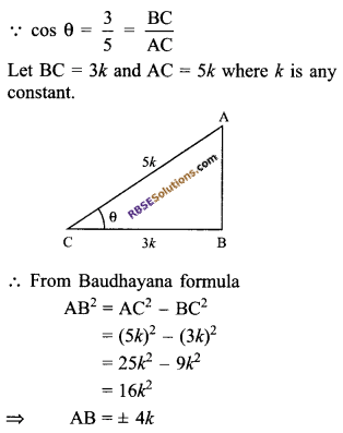 RBSE Solutions for Class 9 Maths Chapter 14 Trigonometric Ratios of Acute Angles Miscellaneous Exercise - 11