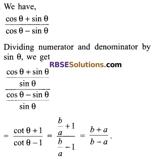 RBSE Solutions for Class 9 Maths Chapter 14 Trigonometric Ratios of Acute Angles Miscellaneous Exercise - 23