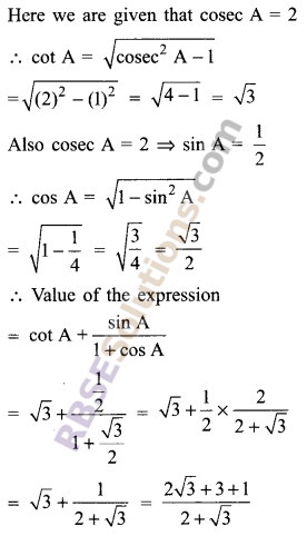 RBSE Solutions for Class 9 Maths Chapter 14 Trigonometric Ratios of Acute Angles Miscellaneous Exercise - 25