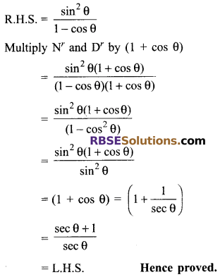 RBSE Solutions for Class 9 Maths Chapter 14 Trigonometric Ratios of Acute Angles Miscellaneous Exercise - 35
