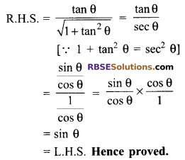 RBSE Solutions for Class 9 Maths Chapter 14 Trigonometric Ratios of Acute Angles Miscellaneous Exercise - 40