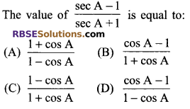 RBSE Solutions for Class 9 Maths Chapter 14 Trigonometric Ratios of Acute Angles Miscellaneous Exercise - 5
