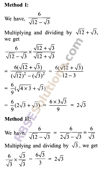 RBSE Solutions for Class 9 Maths Chapter 2 Number System Additional Questions 27