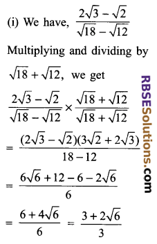 RBSE Solutions for Class 9 Maths Chapter 2 Number System Additional Questions 30