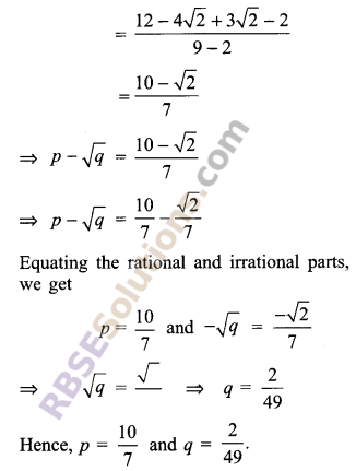 RBSE Solutions for Class 9 Maths Chapter 2 Number System Additional Questions 39