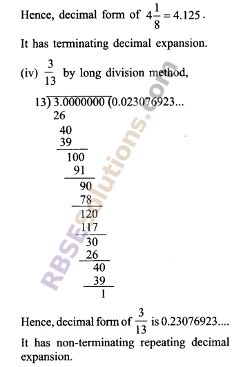 RBSE Solutions for Class 9 Maths Chapter 2 Number System Ex 2.1 5