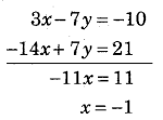RBSE Solutions for Class 9 Maths Chapter 4 दो चरों वाले रैखिक समीकरण Ex 4.2 Q11