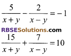 RBSE Solutions for Class 9 Maths Chapter 4 Linear Equations in Two Variables Ex 4.2 11