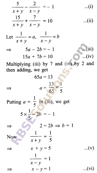 RBSE Solutions for Class 9 Maths Chapter 4 Linear Equations in Two Variables Ex 4.2 12