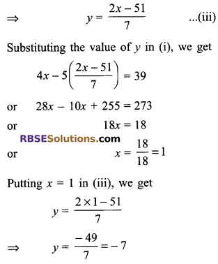 RBSE Solutions for Class 9 Maths Chapter 4 Linear Equations in Two Variables Ex 4.2 4