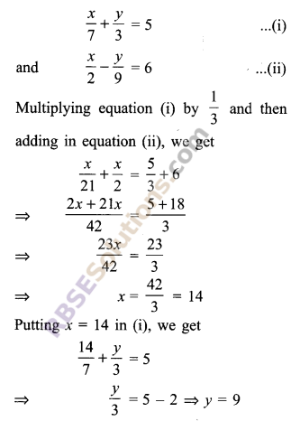RBSE Solutions for Class 9 Maths Chapter 4 Linear Equations in Two Variables Ex 4.2 5