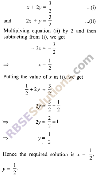 RBSE Solutions for Class 9 Maths Chapter 4 Linear Equations in Two Variables Ex 4.2 6