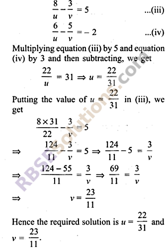 RBSE Solutions for Class 9 Maths Chapter 4 Linear Equations in Two Variables Ex 4.2 7