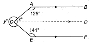 RBSE Solutions for Class 9 Maths Chapter 5 समतल ज्यामिती परिचय एवं रेखाएँ व कोण Ex 5.2 Q2.1