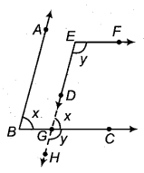 RBSE Solutions for Class 9 Maths Chapter 5 समतल ज्यामिती परिचय एवं रेखाएँ व कोण Ex 5.2 Q6.1
