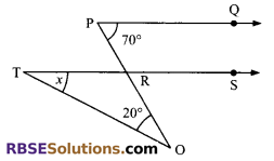 RBSE Solutions for Class 9 Maths Chapter 5 Plane Geometry and Line and Angle Additional Questions 1