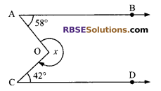 RBSE Solutions for Class 9 Maths Chapter 5 Plane Geometry and Line and Angle Additional Questions 19