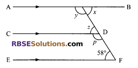 RBSE Solutions for Class 9 Maths Chapter 5 Plane Geometry and Line and Angle Ex 5.2 1