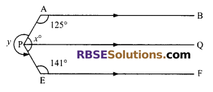 RBSE Solutions for Class 9 Maths Chapter 5 Plane Geometry and Line and Angle Ex 5.2 3