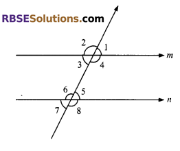 RBSE Solutions for Class 9 Maths Chapter 5 Plane Geometry and Line and Angle Ex 5.2 5