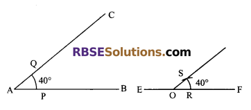 RBSE Solutions for Class 9 Maths Chapter 5 Plane Geometry and Line and Angle Ex 5.3 3