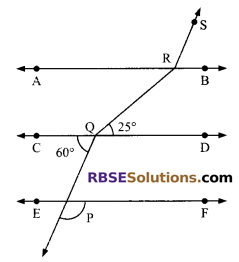 RBSE Solutions for Class 9 Maths Chapter 5 Plane Geometry and Line and Angle Miscellaneous Exercise 1