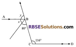 RBSE Solutions for Class 9 Maths Chapter 5 Plane Geometry and Line and Angle Miscellaneous Exercise 9