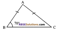 RBSE Solutions for Class 9 Maths Chapter 7 Congruence and Inequalities of Triangles Additional Questions 1