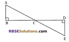 RBSE Solutions for Class 9 Maths Chapter 7 Congruence and Inequalities of Triangles Additional Questions 10