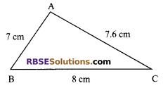 RBSE Solutions for Class 9 Maths Chapter 7 Congruence and Inequalities of Triangles Additional Questions 11