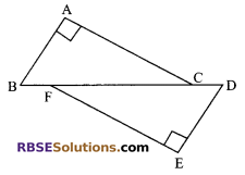 RBSE Solutions for Class 9 Maths Chapter 7 Congruence and Inequalities of Triangles Additional Questions 13