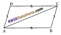 RBSE Solutions for Class 9 Maths Chapter 7 Congruence and Inequalities of Triangles Additional Questions 14
