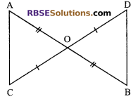 RBSE Solutions for Class 9 Maths Chapter 7 Congruence and Inequalities of Triangles Additional Questions 17