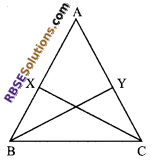 RBSE Solutions for Class 9 Maths Chapter 7 Congruence and Inequalities of Triangles Additional Questions 18