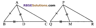 RBSE Solutions for Class 9 Maths Chapter 7 Congruence and Inequalities of Triangles Additional Questions 19