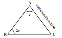RBSE Solutions for Class 9 Maths Chapter 7 Congruence and Inequalities of Triangles Additional Questions 2