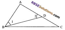 RBSE Solutions for Class 9 Maths Chapter 7 Congruence and Inequalities of Triangles Additional Questions 22