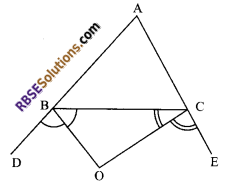 RBSE Solutions for Class 9 Maths Chapter 7 Congruence and Inequalities of Triangles Additional Questions 25