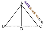 RBSE Solutions for Class 9 Maths Chapter 7 Congruence and Inequalities of Triangles Additional Questions 3