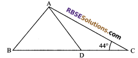 RBSE Solutions for Class 9 Maths Chapter 7 Congruence and Inequalities of Triangles Additional Questions 4