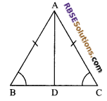 RBSE Solutions for Class 9 Maths Chapter 7 Congruence and Inequalities of Triangles Additional Questions 6