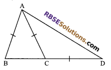 RBSE Solutions for Class 9 Maths Chapter 7 Congruence and Inequalities of Triangles Additional Questions 8