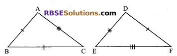 RBSE Solutions for Class 9 Maths Chapter 7 Congruence and Inequalities of Triangles Additional Questions 9