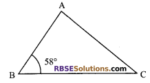 RBSE Solutions for Class 9 Maths Chapter 7 Congruence and Inequalities of Triangles Ex 7.2 1