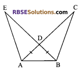 RBSE Solutions for Class 9 Maths Chapter 7 Congruence and Inequalities of Triangles Ex 7.2 2