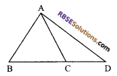 RBSE Solutions for Class 9 Maths Chapter 7 Congruence and Inequalities of Triangles Miscellaneous Exercise 10
